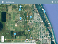 Google map to Indian River County birding sites.