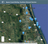 Google map to Southern Brevard County birding sites.