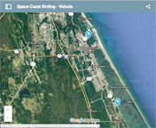 Google map to South Volusia County birding sites.